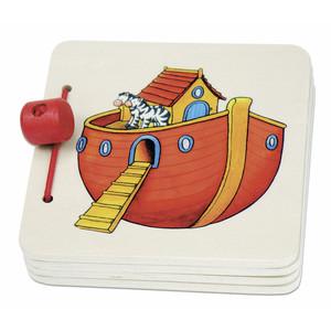 Bilderbok i trä - Noas ark