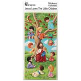 Klistermärken - Jesus välsignar barnen