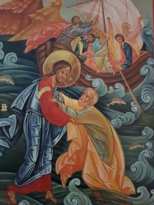 Petrus går på vattnet