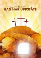 Vykort - Påsk - Tre kors