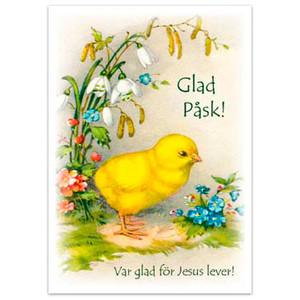 Vykort - Påsk - Glad Påsk! Var glad för Jesus lever!