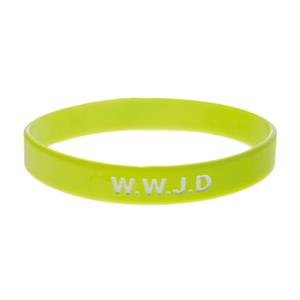 Armband silikon, WWJD