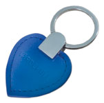 Nyckelring i läder, blå