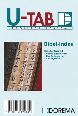 Bibelregister - GT, NT och Apokryferna - svart/vit