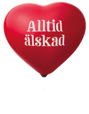 Ballong - Alltid älskad (10-pack)