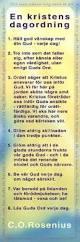 En kristens dagordning - Roseniusbokmärke