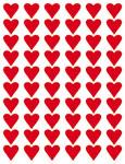 Klistermärken - Röda hjärtan