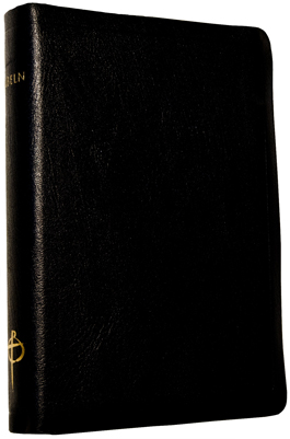 Bibeln, svart skinn, mjukband