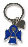 Nyckelring - Ängel med hjärta, blå