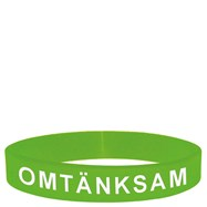 Armband silikon - Omtänksam grön